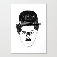 charlie chaplin Canvas Prints featuring Charlie Chaplin by creaziz