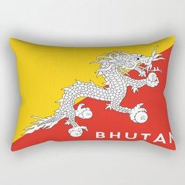 Bhutan country flag name text Rectangular Pillow