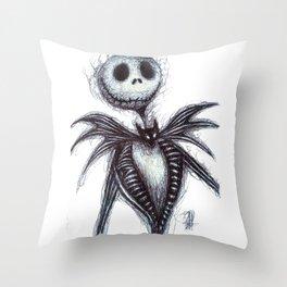 Jack Skellington scribble Throw Pillow