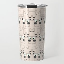 Super cute cartoon white pig - bring home the bacon with everything for the pig enthusiasts! Travel Mug