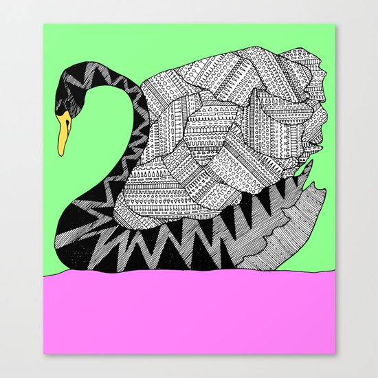 Another Swan Canvas Print