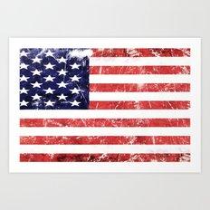 American Grunge Flag Art Print
