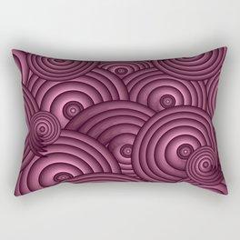 Aubergine Swirls Rectangular Pillow