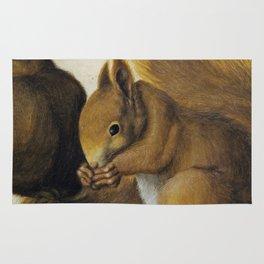Albrecht Durer - Two Squirrels  One Eating A Hazelnut Rug