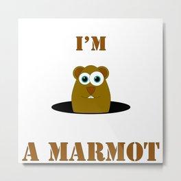 Marmot Style Metal Print