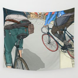 City traveller Wall Tapestry