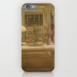 Carl Larsson - Getting Ready for a Game iPhone Case
