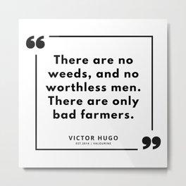 50  | Victor Hugo Quotes | 190830 Metal Print