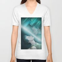 ghost in the shell V-neck T-shirts featuring Ghost in the Shell, fan poster by XDimov