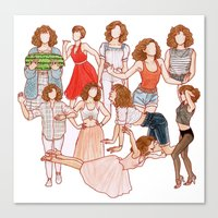 dirty dancing Canvas Prints featuring Dirty Dancing - New version by Naineuh