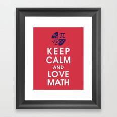 Keep Calm and Love Math Framed Art Print