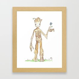 I AM GROOT Framed Art Print