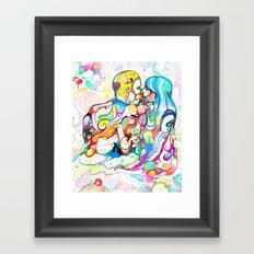 Kiss Like Lovers Do Framed Art Print