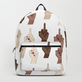 Go fuck yourselves Backpack