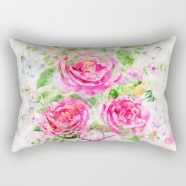 Camellias Bouquet Rectangular Pillow