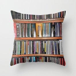 CD's on a Shelf Throw Pillow