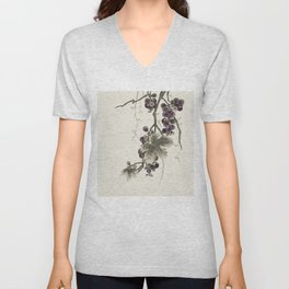 Minhwa : Grapevine Type C (Korean traditional/folk art) Unisex V-Neck