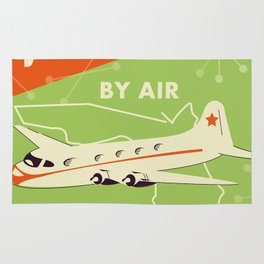 Florida By air - vintage travel poster Rug