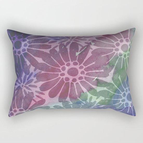 Abtract Summer Flowers I Rectangular Pillow