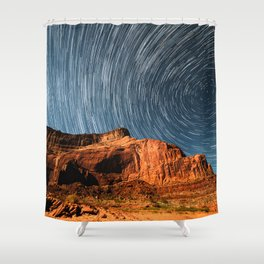 Stars on the Cliffside Shower Curtain