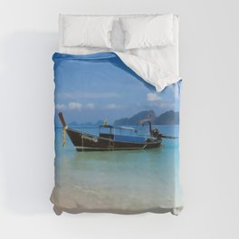 Thailand longboat Duvet Cover