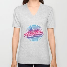 Dream Explore Discover Adventure Is Out There bp Unisex V-Neck