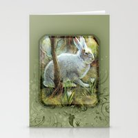 hare Stationery Cards featuring Hare by Natalie Berman