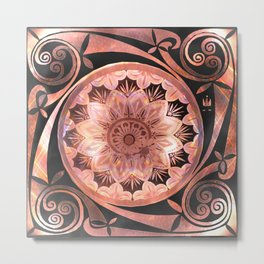 A Penny For Your Thoughts Mandala Metal Print