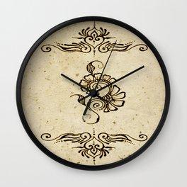 Henna Inspired 4 Wall Clock
