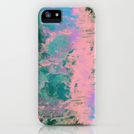 Pink and Green Paint iPhone Case