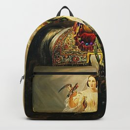 Classical Masterpiece An Algerian Lady Hawking by Horace Vernet Backpack