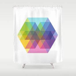 Fig. 040 Hexagon Shapes Shower Curtain