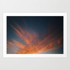 Sunset / Pignon, Haiti Art Print