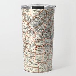 Alabama map with Camelias Travel Mug