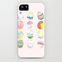 Painted Easter Eggs iPhone Case
