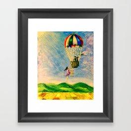 BALLOON LOVE: Flying Away Framed Art Print