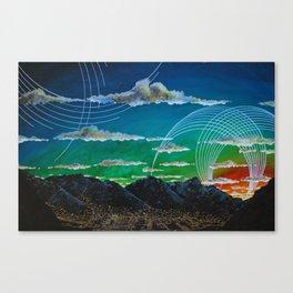 Mountain City View Canvas Print