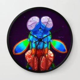 Intense Mantis Shrimp Wall Clock