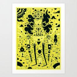 yello world Art Print