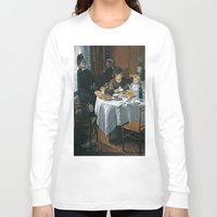 monet Long Sleeve T-shirts featuring The Luncheon - Claude Monet - 1868 by Paulrommer