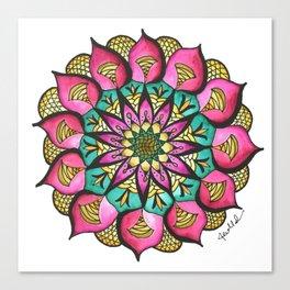 Watercolor Mandala #9 - Original Canvas Print