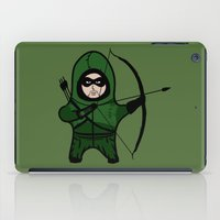 green arrow iPad Cases featuring Green Arrow by Yiannis