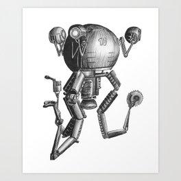 Mr Gutsy Art Print