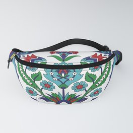 Turkish Tile Pattern – Vintage iznik ceramic with tulips Fanny Pack