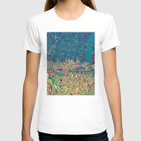 philadelphia T-shirts featuring philadelphia city skyline map by Bekim ART