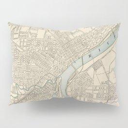 Vintage Map of Toledo Ohio (1901) Pillow Sham