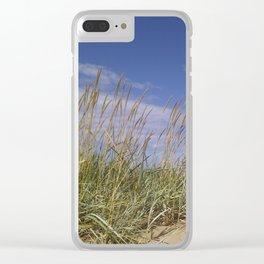 Blue Sky Dune Clear iPhone Case