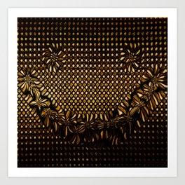 Golden Grin Art Print