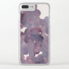 Gold outline grapes Clear iPhone Case