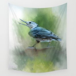 Summer Nuthatch Wall Tapestry